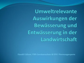 Vortrag von Harald Gülzow
