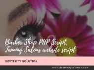 Barber Shop PHP Script, Tanning Salons website script