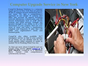 Computer Upgrade Service in New York