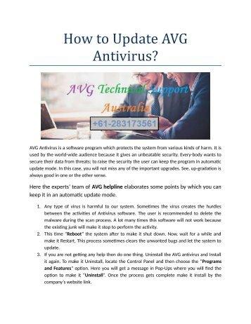 Free AVG not updating