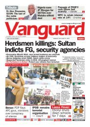 19012018 - Herdsmen killings: Sultan indicts FG, security agencies