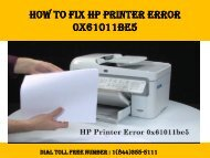 1(800)576-9647 How to Fix HP Printer Error 0x61011be5