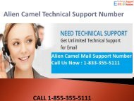 1-844-355-5111 Alien Camel Technical Support Number