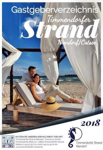 Gastgeberverzeichnis 2018 Timmendorfer Strand Niendorf Ostsee