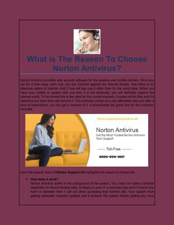 What is The Reason To Choose Norton Antivirus?