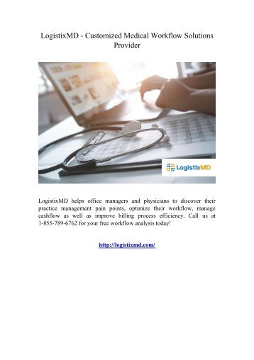 LogistixMD - Customized Medical Workflow Solutions Provider