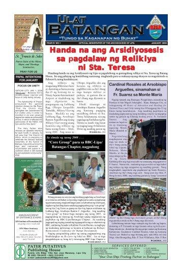 Ulat Batangan January 2008.pmd - Archdiocese of Lipa