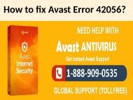 Fix Avast Error Code 42056 Call 1-888-909-0535