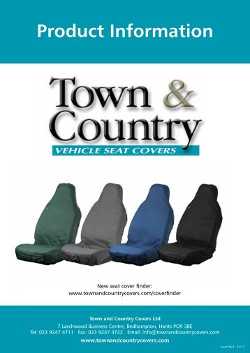 Town & Country Seat Cover Catalogue