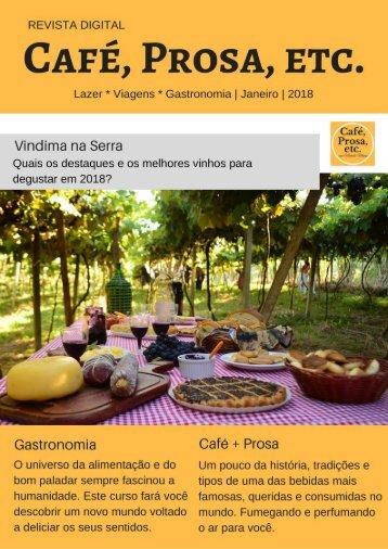 Revista Café, Prosa, Etc. Janeiro18