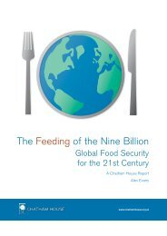 The Feeding of the Nine Billion - Center on International ...