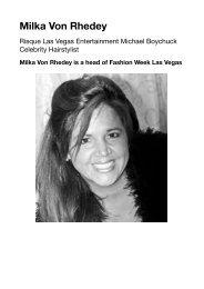Milka Von Rhedey Fashion Week Las Vegas