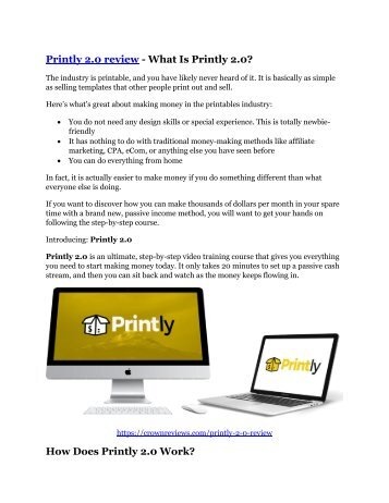 Printly 2.0 Review – (Truth) of Printly 2.0 and Bonus