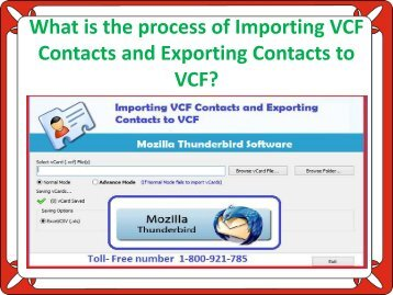 What is the process of Importing VCF Contacts and Exporting Contacts to VCF?