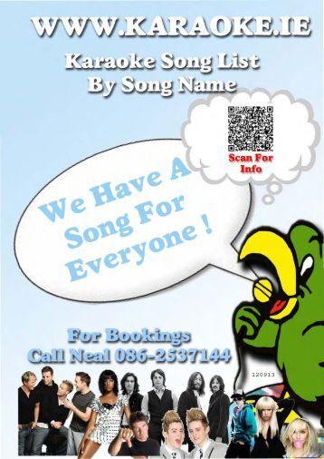 Magic sing karaoke song list download
