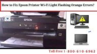 Dial 1-800-610-6962  to Fix Epson Printer Wi-Fi Light Flashing Orange Errors