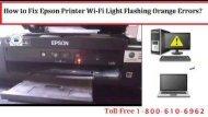 Dial 1-800-610-6962  to Fix Epson Printer Wi-Fi Light Flashing Orange Errors
