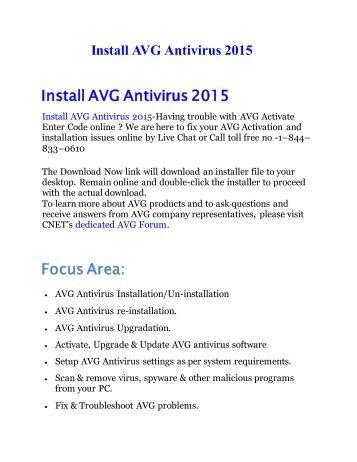 Install AVG Antivirus 2015