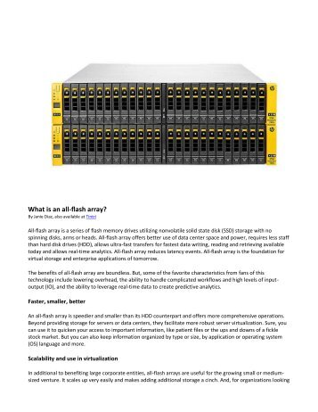 What is an all-flash array