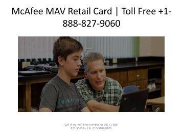 McAfee MAV Retail Card
