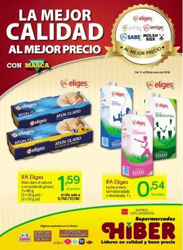 Supermercados HIBER ofertas hasta 28 de enero 2018