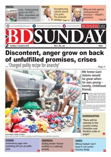 BusinessDay 21 Jan 2018
