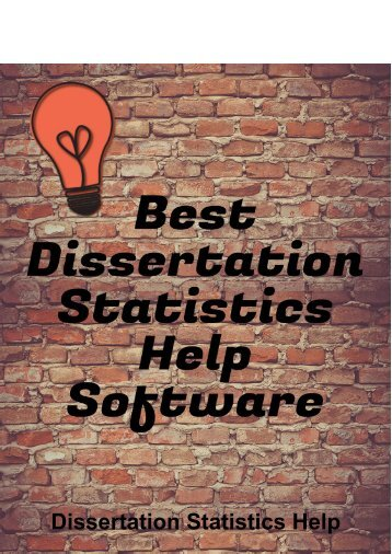 Best Dissertation Statistics Help Software