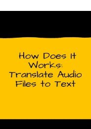 How Does It Works: Translate Audio Files to Text