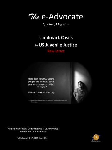 Landmark Cases in US Juvenile Justice (New Jersey)