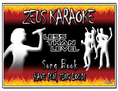 Zeus Karaoke Song List - 091109 - updated Oct 2010 xlsx