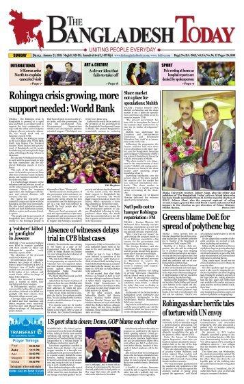 The Bangladesh Today (21-01-2018)