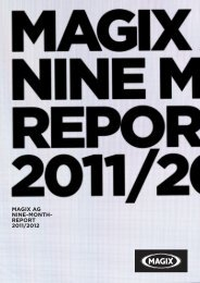 Nine-month report 2011/2012 - MAGIX Investor Relations