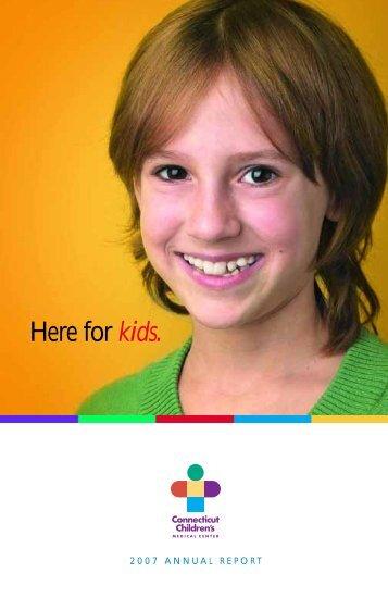 Here for kids. - Connecticut Children's Medical Center