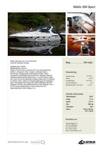 Nidelv 300 Sport - HL-Båtar