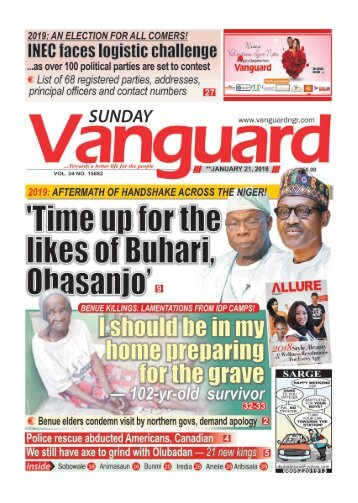 21012018 - Time up for the likes of Buhari Obasanjo