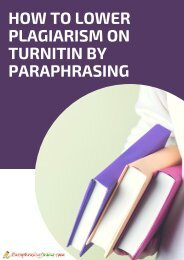 How To Lower Plagiarism on Turnitin By Paraphrasing