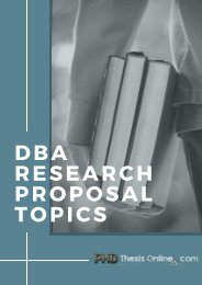 Best 50 DBA Research Proposal Topics