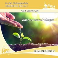 Gemeindebrief Ev.-Ref. Kirchengemeinde Oberholzklau August-Sept. 2016 - Online-Version
