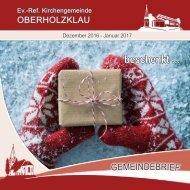 Gemeindebrief Ev.-Ref. Kirchengemeinde Oberholzklau Dez 2016 - Jan, 2017 -Online-Version
