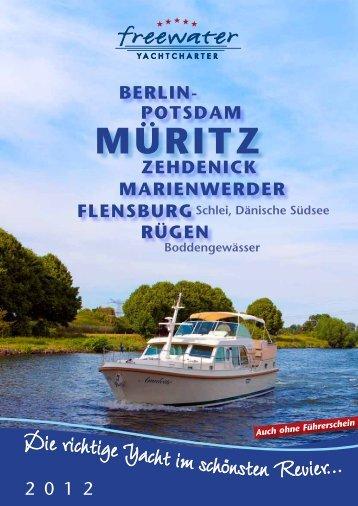 Unsere aktuelle Broschüre 2012 - freewater Yachtcharter