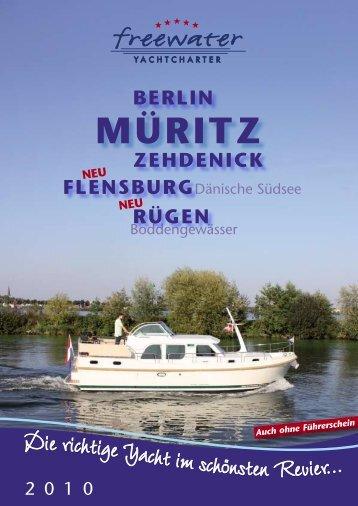 "Linssen ""9"" Series Charter Network - freewater Yachtcharter"