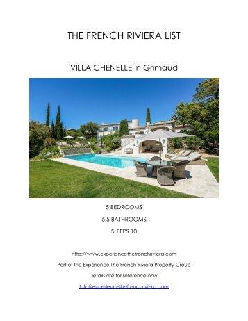 Villa Chenelle - Grimaud