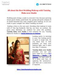 All about the Best Wedding Makeup with Tanishq Make over Studio