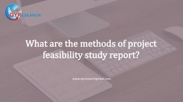 What are the methods of project feasibility study report?