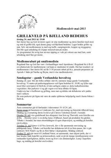 GRILLKVELD PÅ BJELLAND BEDEHUS - Norsk Sau og Geit