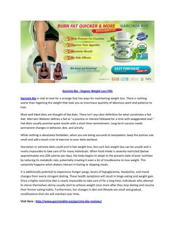 Garcinia Bio reviews for Weight Loss Natural Ways to Lower