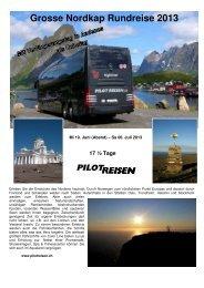 Grosse Nordkap Rundreise 2013 - Pilot Reisen