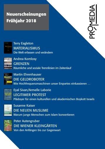 Vorschau Promedia Verlag Frühjahr 2018