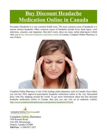 Buy Discount Headache Medication Online in Canada