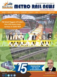 Metro Rail News January 2018
